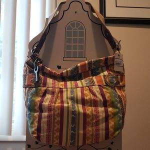 Fossil Gwen Bucket Patchwork purse